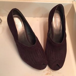 Authentic Calvin Klein peep toe heels! Size 8!